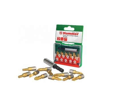 Набор бит Hammer Flex 203-902 PB set No2 (12pcs) Ph/Pz/Sl/Tx  12шт.